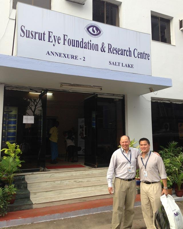 Dr. Pineda and Dr. Paul Chan at Susrut Eye Foundation and Research Centre