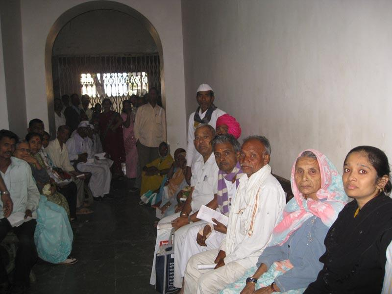 Patients waiting to be seen in the Department of Ophthalmology, Sir JJ Group of Hospitals