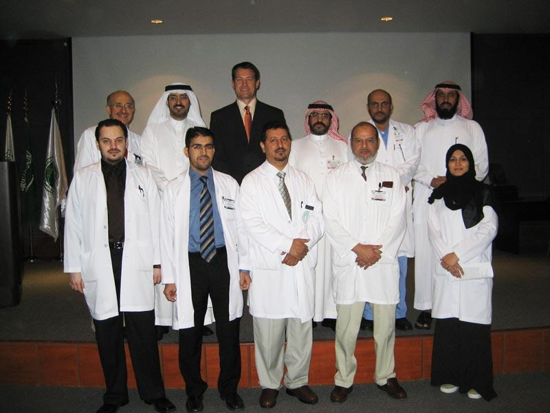 Dr. Aldave with members of the Anterior Segment Service at King Khaled Eye Specialist Hospital