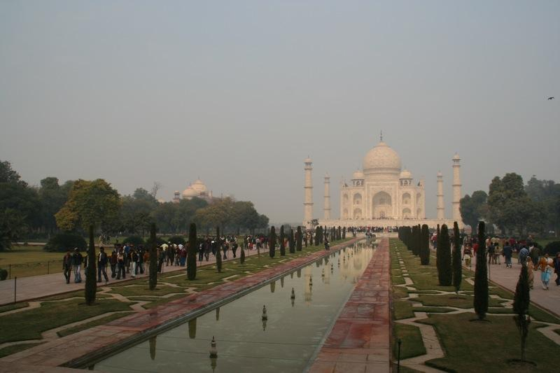 The Taj Mahal in Agra.