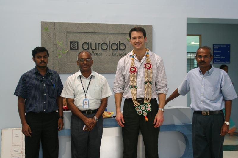 Dr. Aldave and members of Aurolab, associated with Aravind Eye Hospital, Madurai.