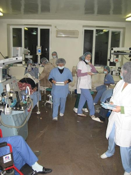 Operating room at the Malayan Eye Hospital