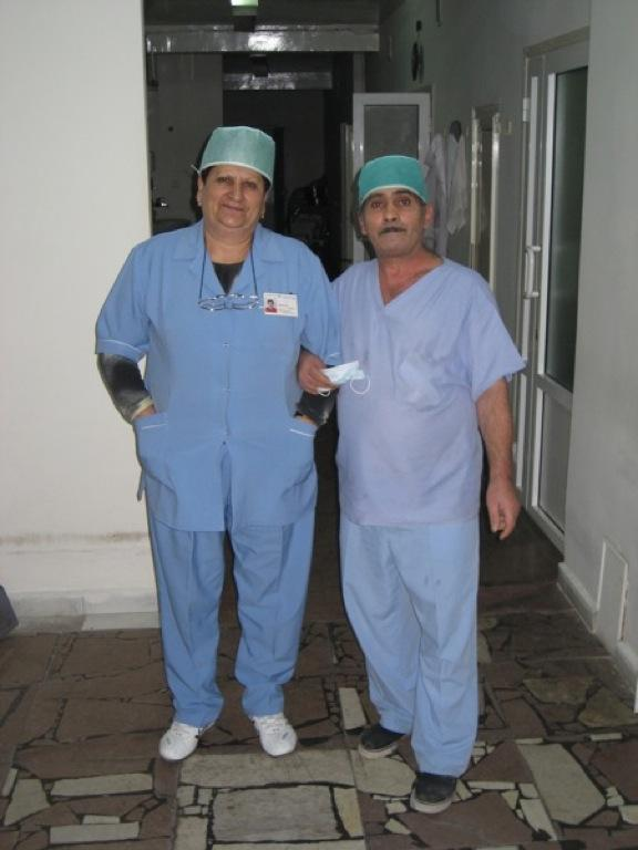 Operating room staff at the Malayan Eye Hospital