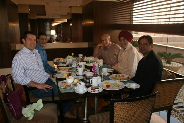 Dr. Aldave and colleagues enjoying brunch in Mumbai.