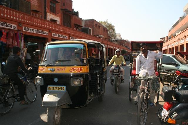 An auto rickshaw, the preferred means of quick and easy transportation across all of India.