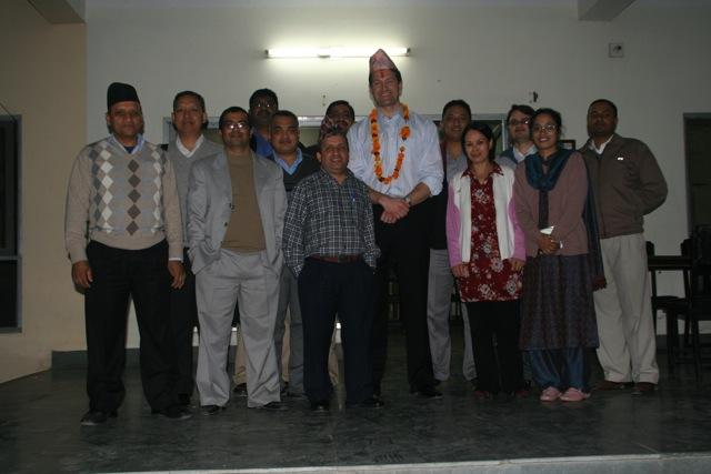 Dr. Aldave and faculty of Lumbini Eye Institute.