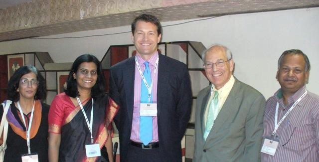 Dr. Aldave, Dr. Gerald Schultz and Dr. P. Sundaresan at the All India Ophthalmology Soceity Meeting