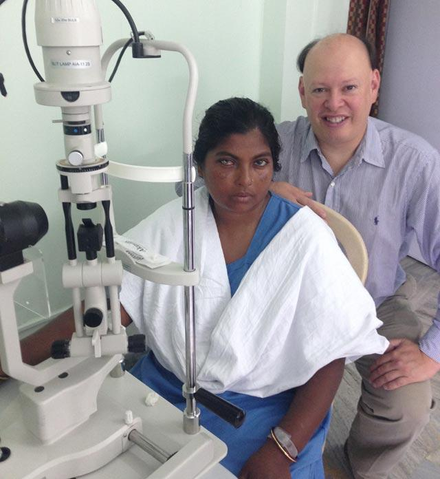 Dr. Pineda and patient who received DALK at Susrut Eye Foundation and Research Centre